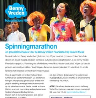 Benny vreden brengt muziek en theater in de klas for Basic fit inschrijven